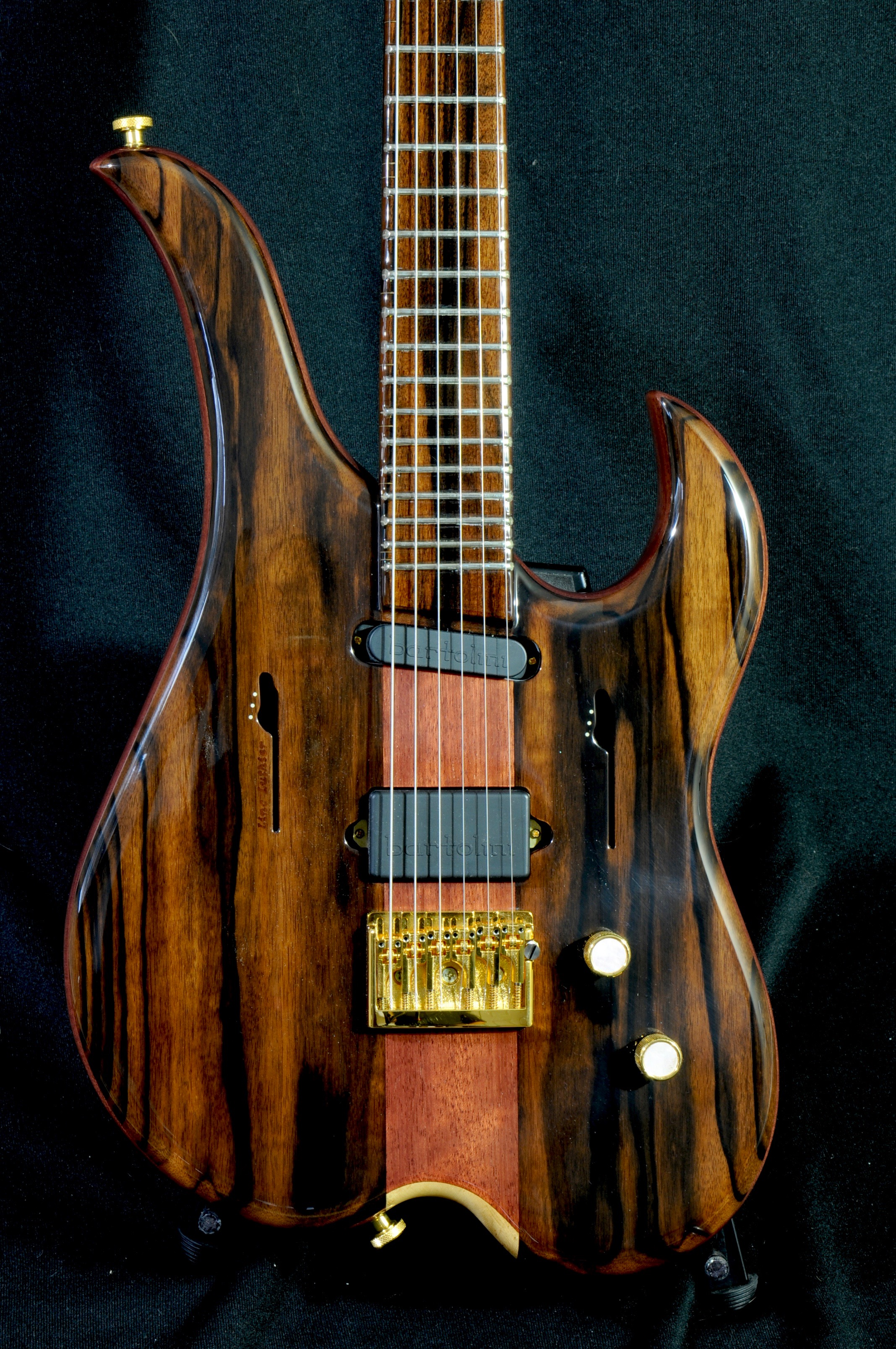 Linc Luthier Custom 1-off with Macassar Ebony & Purple Heart