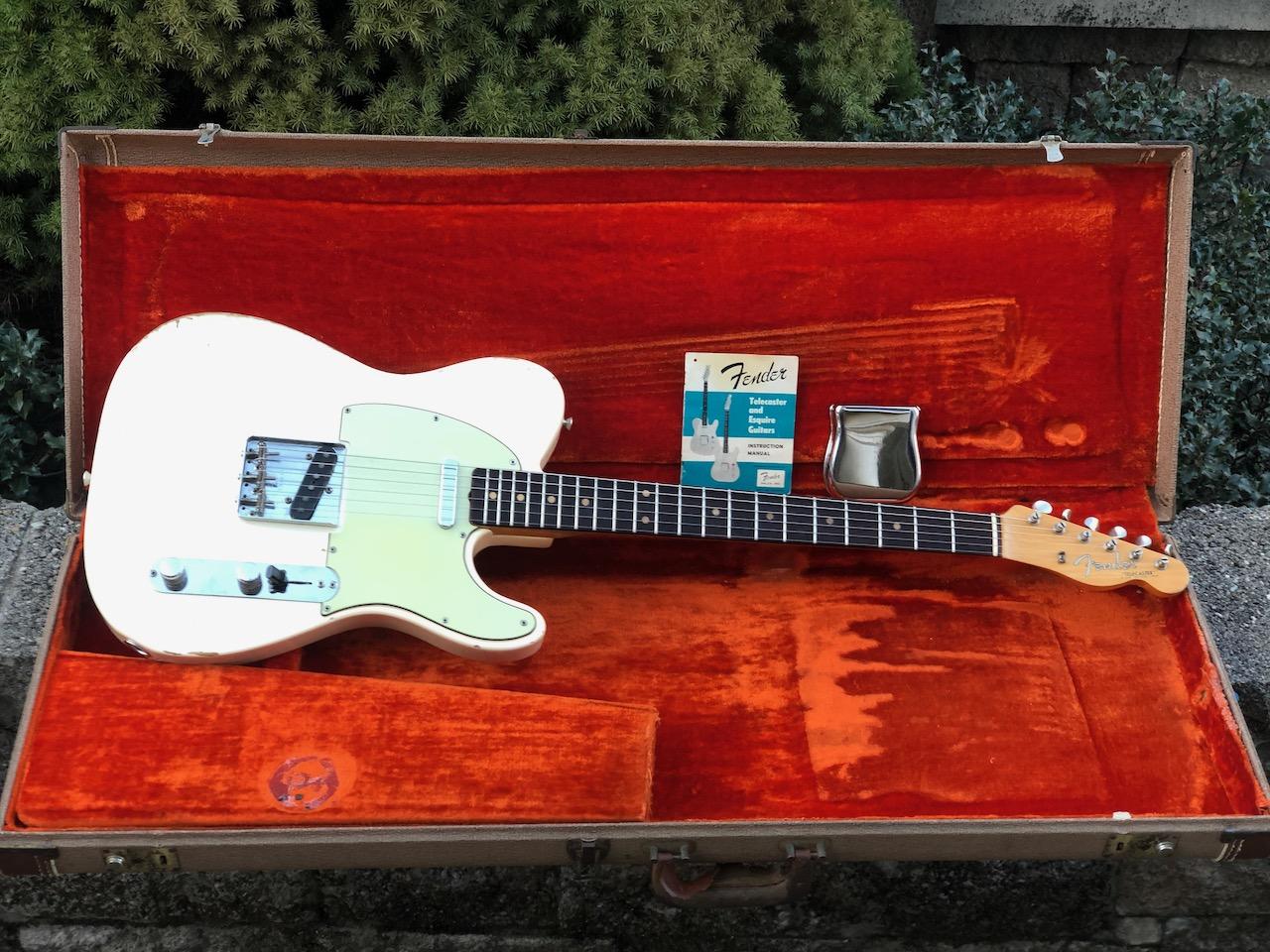 1962 Fender Tele – ORIGINAL OLY WHITE!  100% Original!